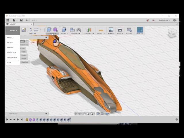 Ana Andrade's Fusion 360 Tutorial : Formula 1 Car Design