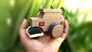 How to make road roller using DC motor    mini road roller    battery operated     DIY at home .