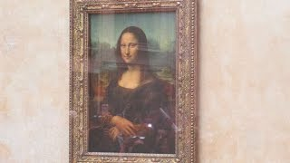 Mona Lisa - The Original Painting in Louvre Museum, Paris