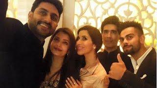 Virat Kohli With Aishwarya Rai Bachchan & Abhishek Bachchan