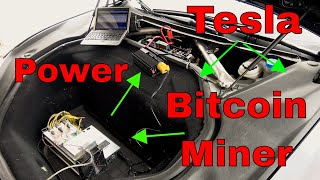 Bitcoin using Tesla Actual Attempt!  W/ Bitmain Antminer S9