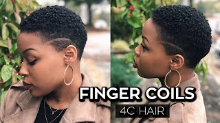 How To: Finger Coils on Short 4C Hair/TWA