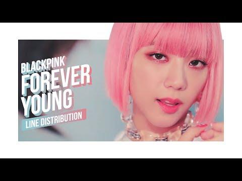 BLACKPINK - FOREVER YOUNG Line Distribution (Color Coded)   블랙핑크