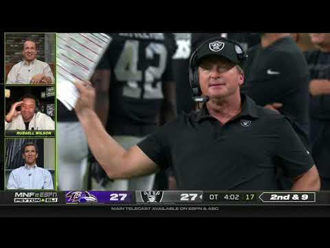 Ravens vs. Raiders INSANE Ending FULL Overtime Peyton & Eli Manning Russell Wilson React