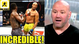 MMA Community Reacts to the Thrilling Fight Anderson Silva vs Adesanya,UFC 234 Results,Dana White