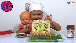 ✔ Baby Surprise for Doll Nenuco is a chocolate cake. Сюрприз Кукле Ненуко Шоколадный торт Серия 31