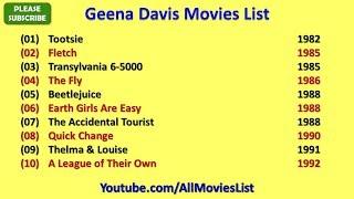 Geena Davis Movies List