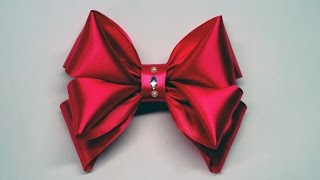 Decor crafts How to Make Simple Easy Bow of satin ribbons / ribbon bow diy / DIY beauty and easy