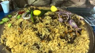 Pallow rice Dish food at Local Pakistani hotel near Masjid-e-Nabvi Medina 2 April 2013 Saudi Arabia