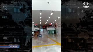 Hombre irrumpe en aeropuerto y amenaza con cuchillo   BD Noticias