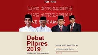 Live! Debat Perdana Pilpres 2019; Joko Widodo (Jokowi )-Ma'ruf Amin vs Prabowo-Sandi