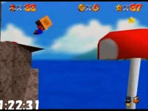 Super Mario 64 N64 120 star Speed run 1 49 49