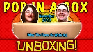 UNBOXING! Pop in a Box November 2017 (12 Pops) - MAY THE FORCE BE WITH US! - #Funko