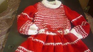 فستان تريكو للبنات شرح كامل لخطوات الكم والقبة والخياطةللمبتدئين 2Knitting Dress