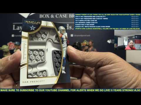 2016 Panini Immaculate Football Box Break for Michael K