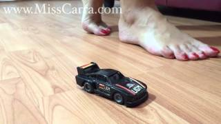 Miss Carra giantess barefoot crush toy car (preview)
