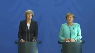 Awkward moment German journalist asks Theresa May why she appointed Boris Foreign Secretary