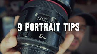 9 tips for BETTER PORTRAITS