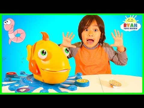 Xxx Mp4 Let S Go Fishing With Fish Food Game For Kids With Ryan ToysReview 3gp Sex