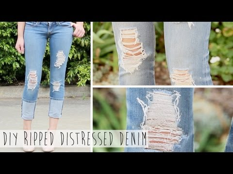 Xxx Mp4 Salvage Your Jeans DIY Ripped Distressed Denim 3gp Sex
