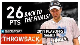 Throwback: Dirk Nowitzki WCF Game 5 Highlights vs Thunder (2011 Playoffs) - 26 Pts, 9 Reb, CLUTCH!!