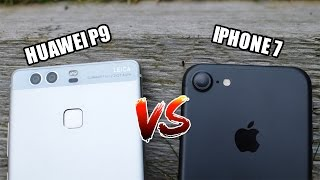 IPHONE 7 VS HUAWEI P9  - FRENTE A FRENTE