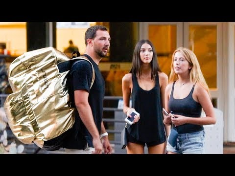 Giant Backpack Prank