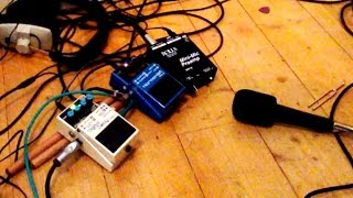 Vocals through guitar pedals looping and Harmonizing