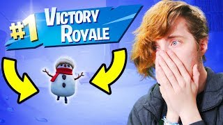 TROLLING People With The SNEAKY SNOWMAN! *I ACTUALLY WON!* (Fortnite)