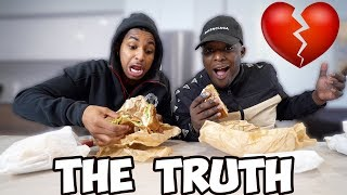 THE TRUTH ABOUT OUR CHILDHOOD... We have a twin brother ❤️  Mukbang with my big brother