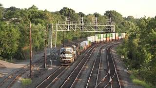 Norfolk Southern #20E  arriving East Conway with a yellow over red signal 8/12/17