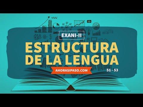 Guía EXANI-II   Estructura de la lengua (51, 52 y 53)