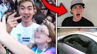 Top 5 Psycho YOUTUBER FAN ENCOUNTERS! (Faze Banks, Ricegum & More)