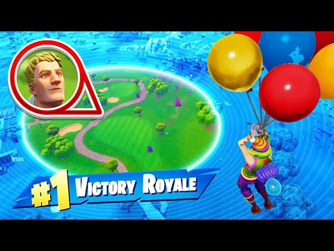 WINNING With ONLY BALLOONS In Fortnite