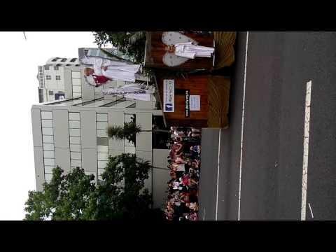 Santa parade in NZ 2015