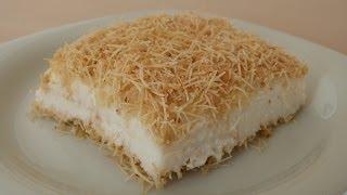 Kanafeh with Pudding Recipe   Turkish Dessert