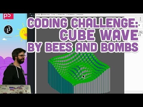 Coding Challenge 86 Cube Wave by Bees and Bombs