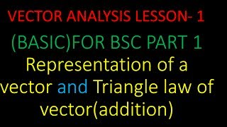 vector analysis lesson 1 basic for bsc part 1 and also for 11th and 12th