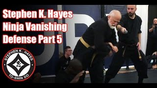 Grand Master Stephen K. Hayes: Ninja Vanishing Defense Part 5