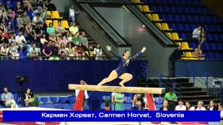 UKRAINE NATION CUP 2015, Кармен Хорват, Carmen Horvat,  Slovenia, бревно.