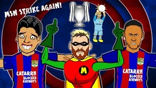 MSN STRIKE AGAIN! Song - Barcelona vs Man City (4-0  Highlights, Goals, Messi Hattrick)