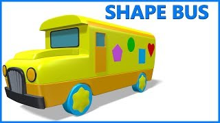 Shapes Songs | Shapes For Kids | Shapes Songs For Children | Shapes Bus Rhymes