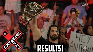WWE Extreme Rules 2016 Seth Rollins Returns And Pedigrees Roman Reigns!