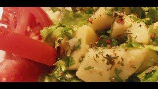 Bol Yeşillikli Patates Salatası Tarifi  / Ev Yemekleri