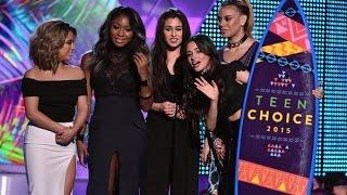 Fifth Harmony presenting/winning an Award at the Teen Choice Awards 2015
