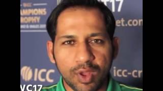 Champion Sarfaraz Ahmad wishing Pakistan women team