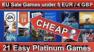 PS4 EU Games under €5 / £4 Sale - 21 Easy Platinum Games - until 21st February