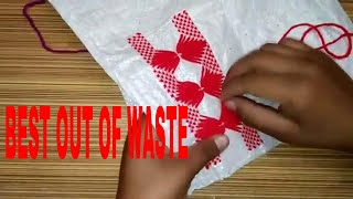 BEST OUT OF WASTE :TV COVER ,SOFA COVER ,HAND FAN DESIGN NO- 1