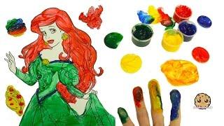 Finger Painting The Little Mermaid Disney Princess with Paint Pots - Dollar Tree Art Video