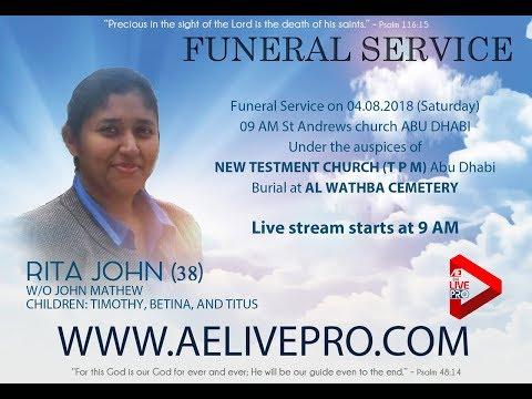 Xxx Mp4 Funeral Service Live Rita John 38 Abu Dhabi 3gp Sex